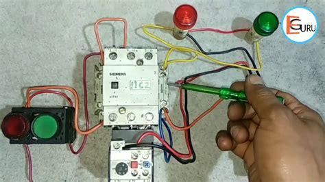 dol starter   indicator wiring