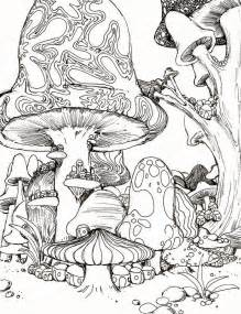 hippie mushroom coloring pages adult - Psychedelic Hippie Coloring Pages