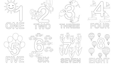 Math Number Coloring Worksheets. Math. Best Free Printable