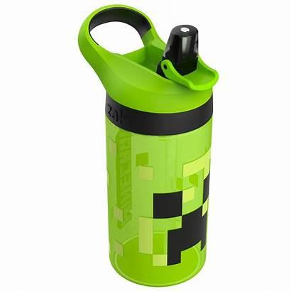 Minecraft Water Bottle Creeper Pig Piece Zak