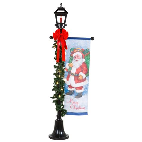 holiday outdoor l post shop holiday living 1 piece 6 02 ft l post outdoor