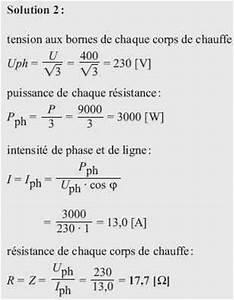 Formule Puissance Electrique : calcul puissance resistance triphas goulotte protection ~ Dode.kayakingforconservation.com Idées de Décoration