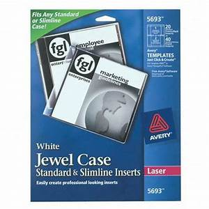 laser cd jewel case insert avery dennison 5693 ave5693 With cd jewel case labels