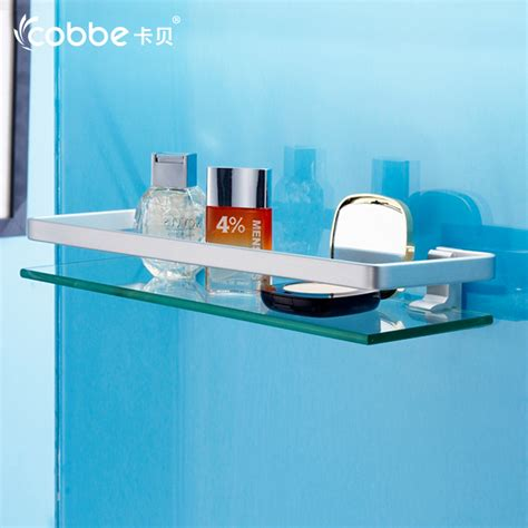 Glass Wall Shelves For Bathroom by Space Aluminium Bathroom Shower Shelf Glass Storage Rack