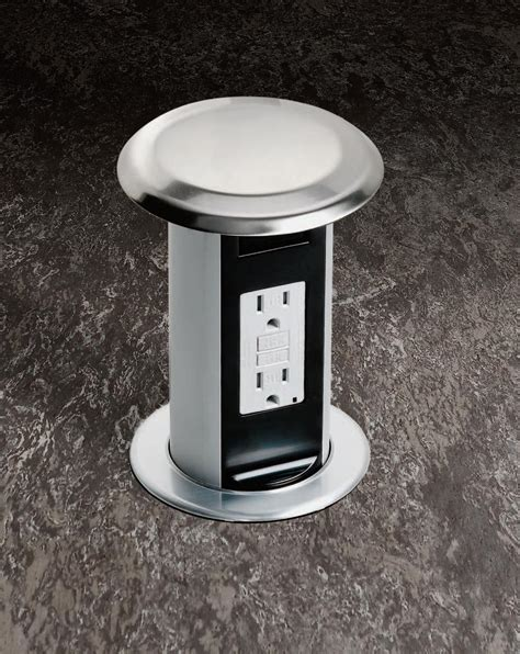 countertop electrical receptacles cupboards kitchen and bath genius moment carlon pop up