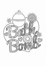 Bomb Bath Junkie Colouring sketch template