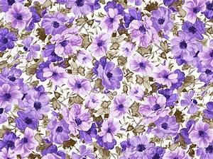 Purple Flowers Background, Artistic Flower Patterns 9 ...