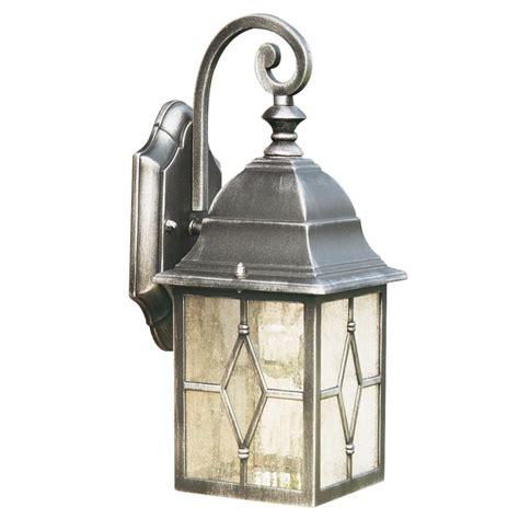 genoa antique black silver garden wall lantern ip44