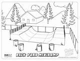 Coloring Skatepark Ramp Mini Backyard Future Designers Activity sketch template