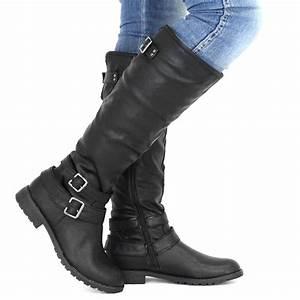 Schwarz Flachs stiefel Damen leder oliver Stiefel damen vgY76ybf