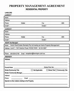 9 sample property management agreement templates to for Property management documents forms