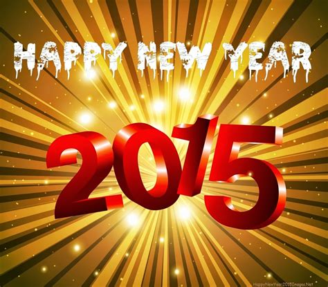 Latest 3d Happy New Year Wallpaper 2015
