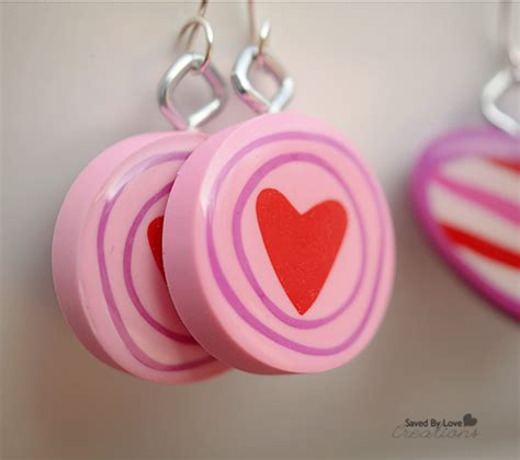 diy dollar store eraser valentine earrings