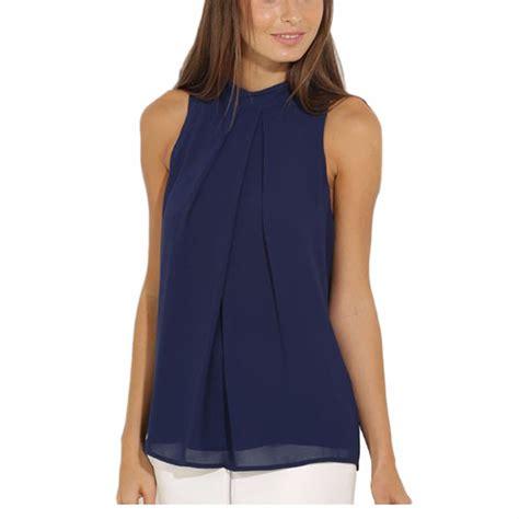 summer blouse cockcon summer blouse tops casual chiffon sleeveless