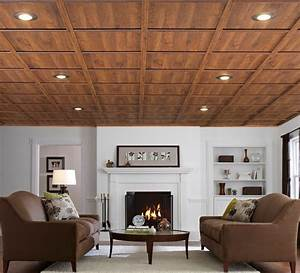 Drop ceiling ideas basement traditional with basement drop for Basement wood ceiling