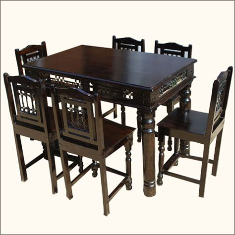 pub height kitchen table 7 pc pub counter height wood kitchen dining room table