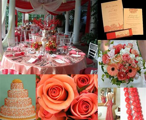 Coral Color Decorations For Wedding by Color Inspiration Coral Elizabeth Designs The
