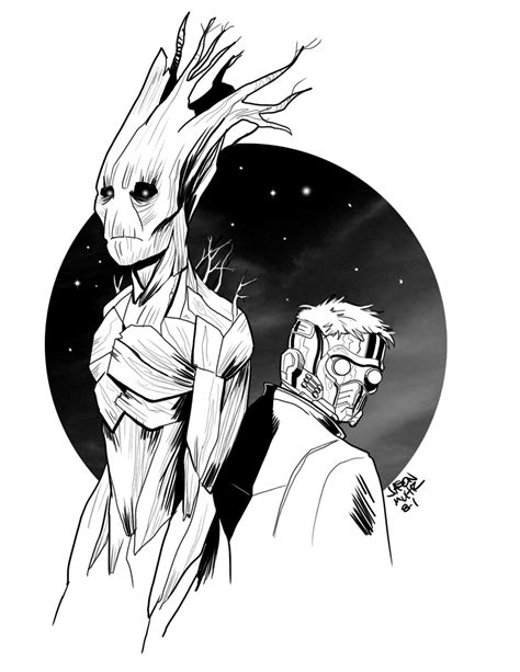 Daily Sketch Starlord And Groot — Jason Muhr Freelance
