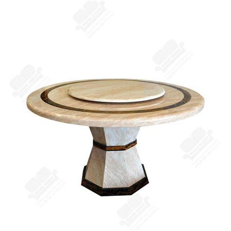 (C) ชุดโต๊ะอาหาร : โต๊ะอาหารกลมหินอ่อน รุ่น DTMS-38 DINNER ...