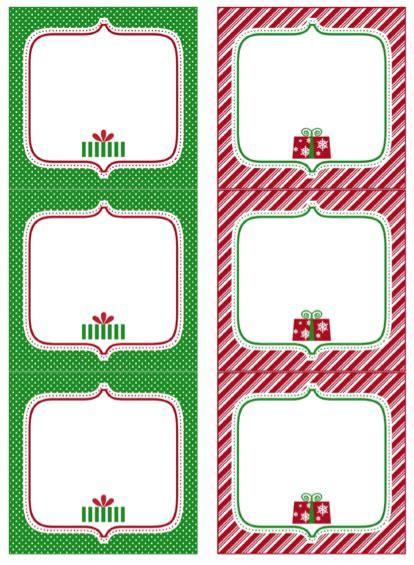 7 best images of free printable christmas tags and labels