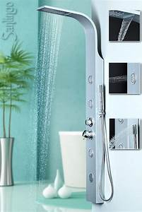Duschpaneel Mit Massagedüsen : duschpaneel aluminium duschs ule mit massaged sen und wasserfall von sanlingo duschpaneele ~ Eleganceandgraceweddings.com Haus und Dekorationen