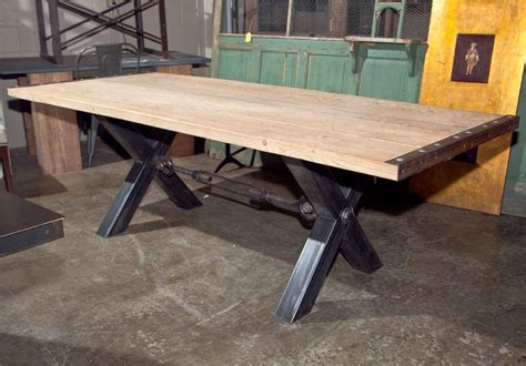 industrial looking dining room tables industrial style steel base dining table at 1stdibs