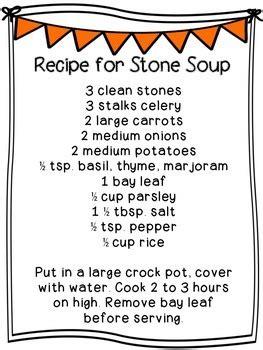 stone soup mini unit  christina dillon teachers pay