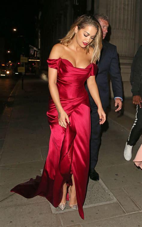Rita Ora in Red Dress - Cartier Event at Freemasons Hall ...