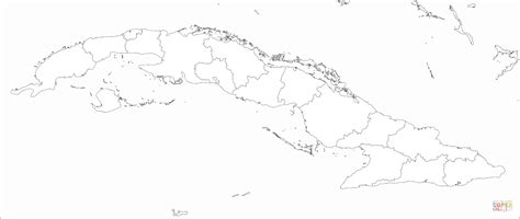 cuba map coloring page  printable coloring pages