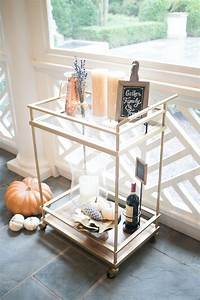 Decorate your Bar Cart for Fall - Fashionable Hostess