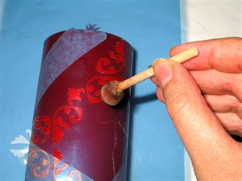 decorare le candele per natale candela ghiacciata per natale bricolageonline net