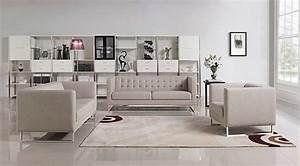 Contemporary light grey fabric sofa set vg400 fabric sofas for Modern light grey fabric sectional sofa