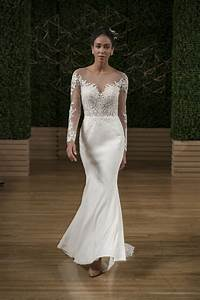 Maggie sottero long illusion sleeve embroidered sheath for Illusion sleeve wedding dress
