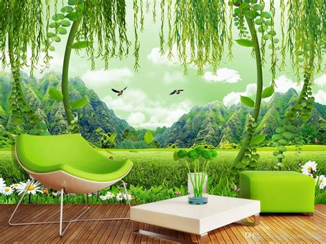 3d Scenery Wallpaper by Green Field Scenery 3d Tv Background Wall Mural 3d