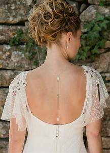 Hanah collier de mariage avec bijou de dos perles et for Les robes de mariage avec bijoux en perles