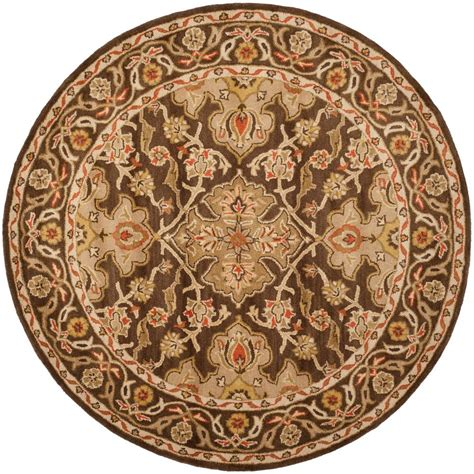 safavieh classic brown  ft   ft  area rug cla