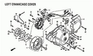 1985 Honda Rebel 250 Cmx250c Left Crankcase Cover Parts
