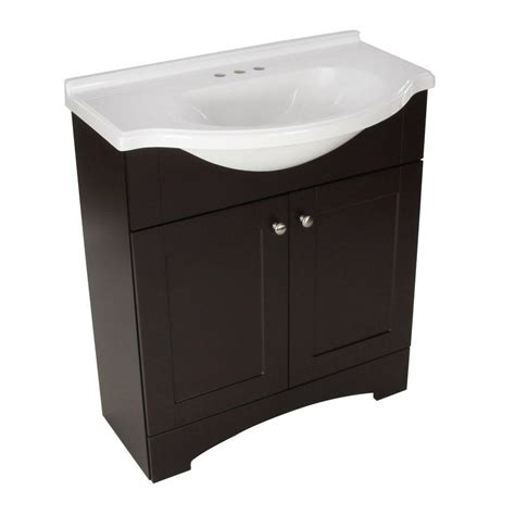 glacier bay mar 30 in w x 19 in d bath vanity in espresso with ab engineered composite