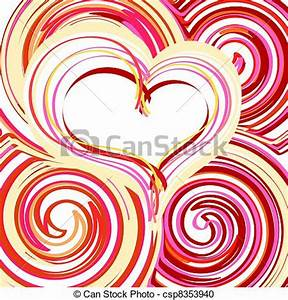 Vector Clipart of Beautiful Abstract Heart background ...