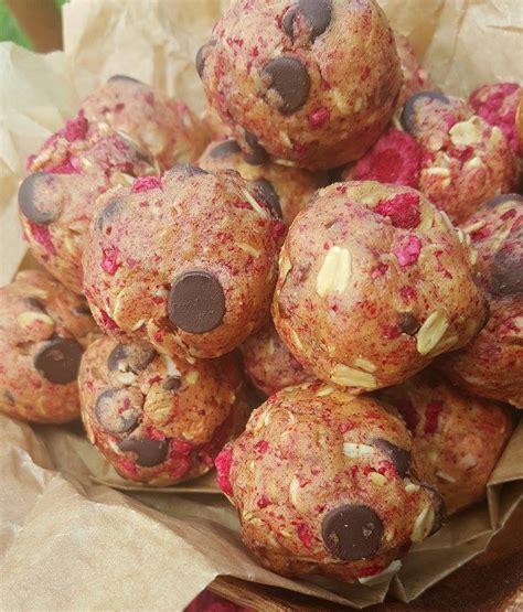 Bake Raspberry Chocolate Protein Balls Clean Food Crush