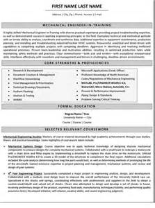 mechanical design engineer and gas resume mechanical engineer resume sle template