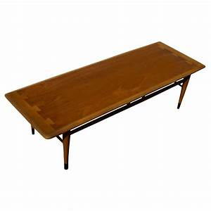 54quot mid century modern lane two tone low coffee table ebay With mid century low coffee table