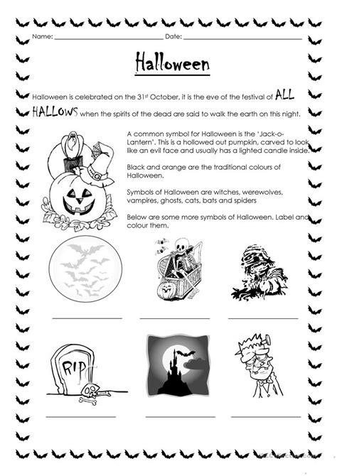 halloween worksheet  esl printable worksheets