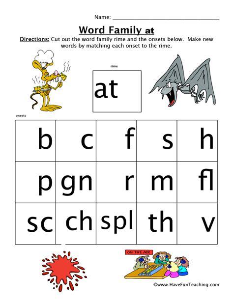 Word Family Worksheet  At  Have Fun Teaching