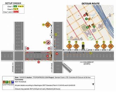 Traffic Control Plans Plan Numbered Setup Step