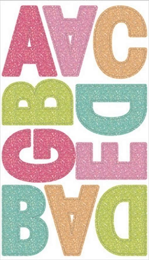 large letter stickers multi color prisma glitter large alphabet stickers
