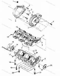 Polaris Watercraft 1995 Oem Parts Diagram For Crankcase Sl