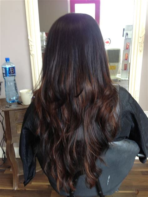 beautiful brunettecaramel balyage   long hair