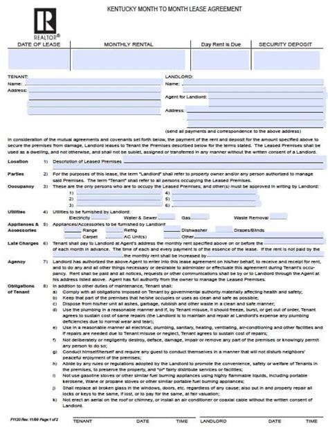 Spanish Rental Agreement Printable