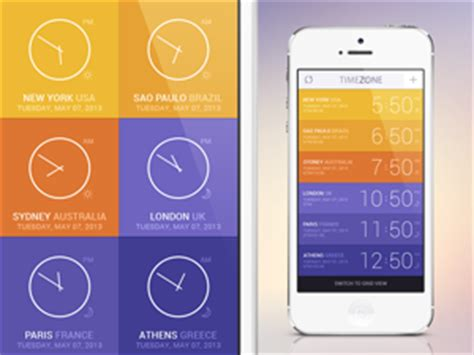 time zone app ui graphicburger